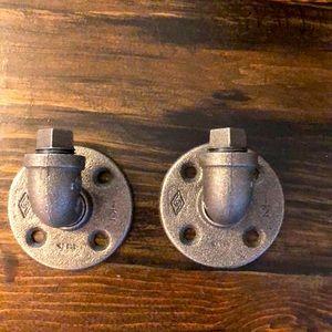 Steampunk hanging hooks set of 2